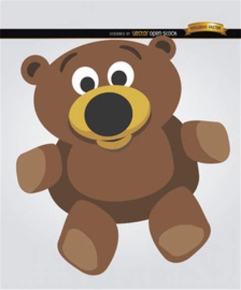 imagenes animados de osos de dibujos animados oso de peluche vector descargar