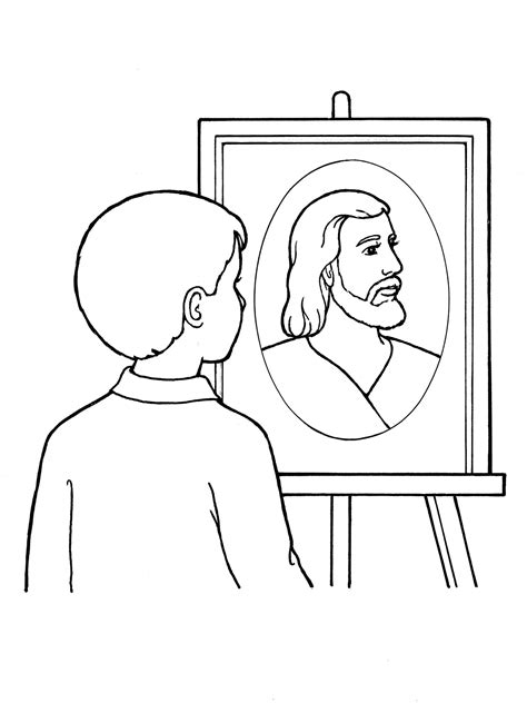 lds coloring pages faith in jesus christ faith in jesus christ