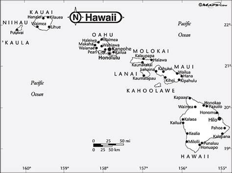 coloring page map of hawaii hawaiian islands outline