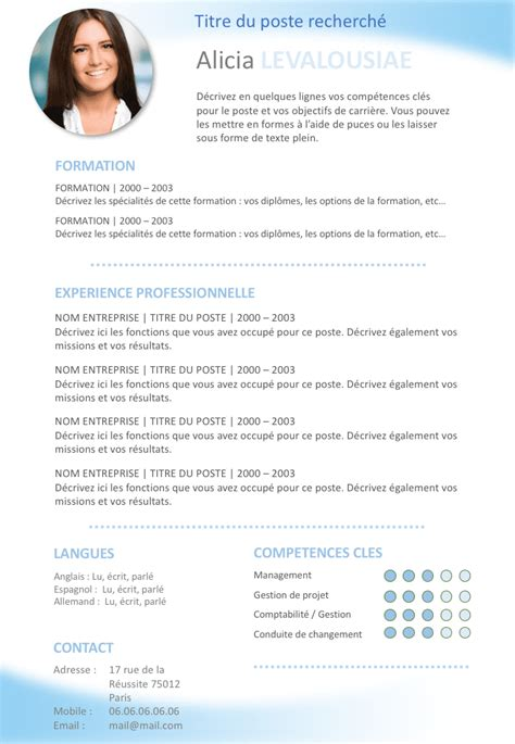 Exemple Des Cv Professionnel by Exemple De Cv D 233 Butant Gratuit 224 T 233 L 233 Charger