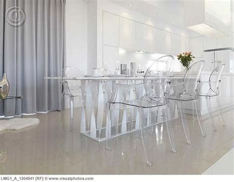 clear dining room table low angle modern dining table with clear plastic chairs
