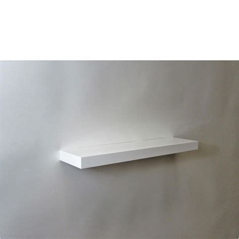 gloss white floating shelf 600x150x38mm mastershelf