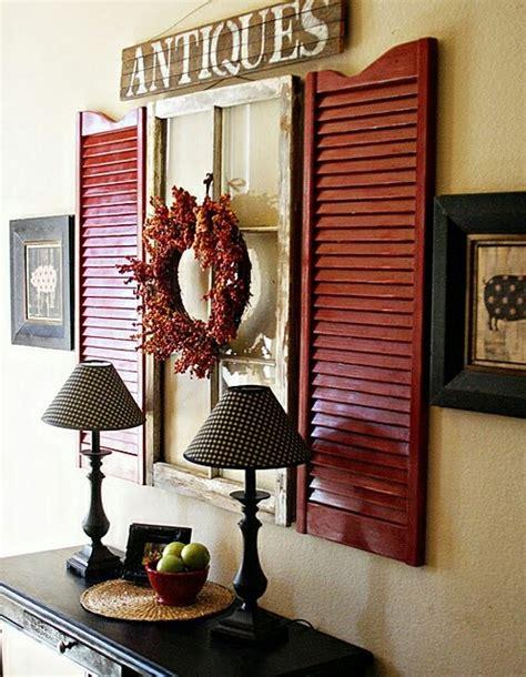 shutter and window wall decor home - Wall Shutter Decor
