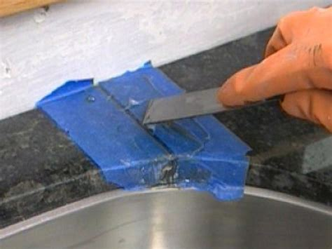 Granite Countertop Filler by Installing A Do It Yourself Granite Countertop How Tos Diy