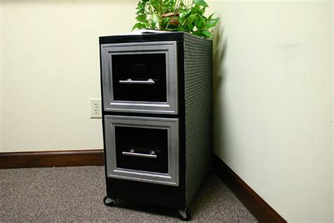 Diamond Plate File Cabinet Makeover Checking In With Chelsea Metal Filing Cabinet Makeover