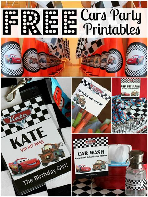 printable cars birthday decorations free cars birthday party printables