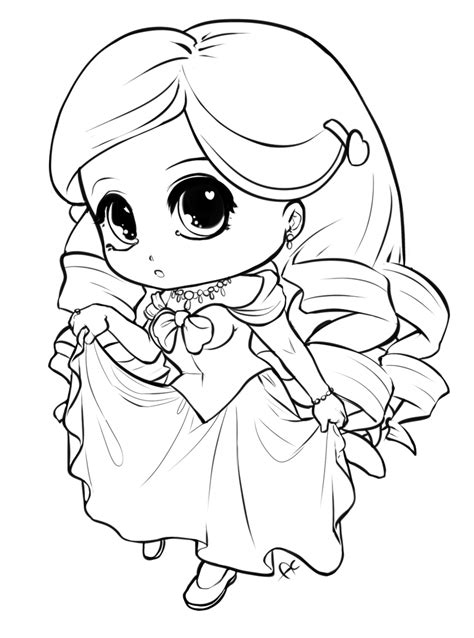 chibi princess coloring pages chibi princess by ayayume on deviantart