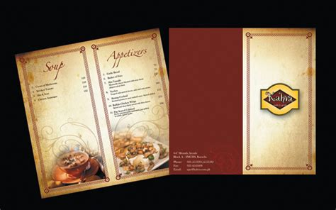 make a menu card 65 restaurant menu brochure designs for designers