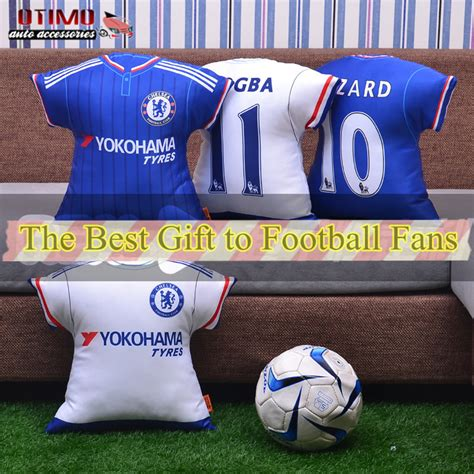 football fan car seat cushion chelsea jersey shape pillow