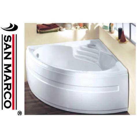 vasca da bagno angolare 135x135x60 cm san marco