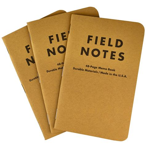 field note field notes ruled memo books 3 pack classic pens