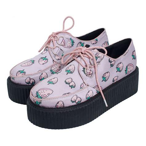 harajuku strawberry platform shoes 183 kawaii