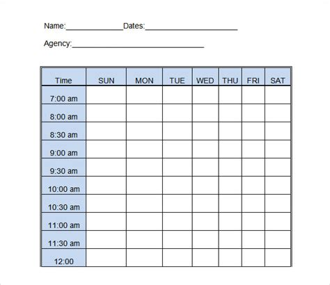 daily activity log template activity log template