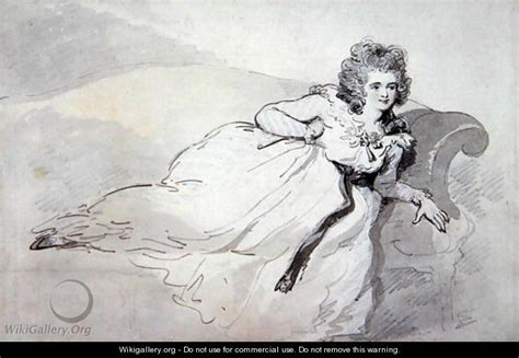 mrs couch mrs abington reclining on a couch thomas rowlandson