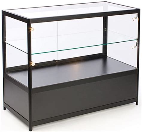 merchandise display case black merchandising display cases for sale halogen side
