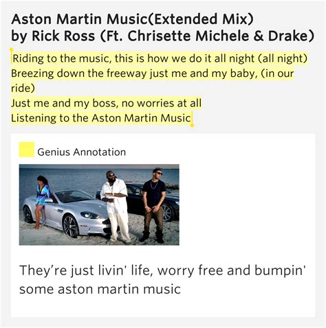 Aston Martin Song Lyrics by To The This Is Aston Martin