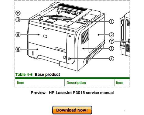 Hp Laserjet P3010 P3015 2009 Service Repair Manual