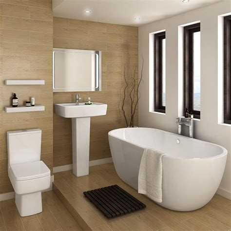 Modern Bathroom Suites Bliss Modern Ended Curved Freestanding Bath Suite At Plumbing Uk