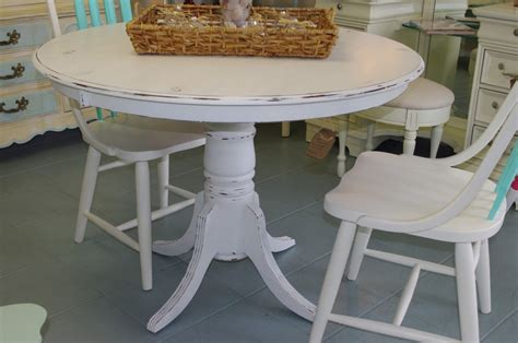 Distressed Pedestal Dining Table Dining Room Exquisite Small Dining Room Decoration Using Pedestal White Distressed Wood