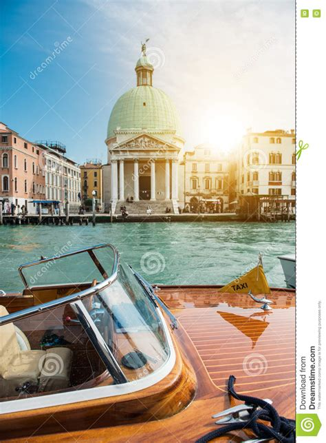 cartoon venice boat canal view in venice with a boat royalty free stock image