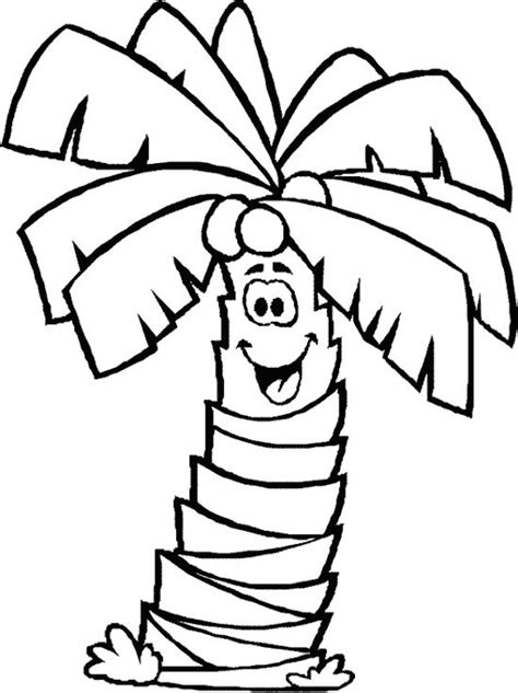 smile palm tree coloring page abcssight word ideas