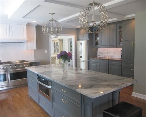 grey kitchen cabinets with granite countertops slate gray contemporary kitchen island design with white