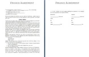 finance agreement template free agreement and contract