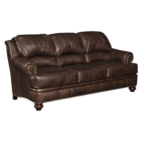 broyhill leather couch leather sofa l309 3 hamilton broyhill outlet discount