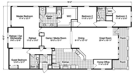 la x4766s home floor plan manufactured and or
