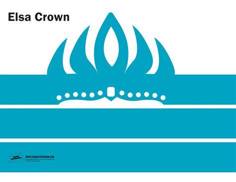 elsa crown template corona frozen corona