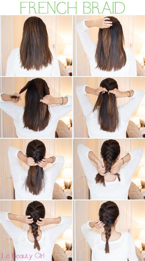 how to give myself the best hairstyle with a widows peak for men 25 best ideas about french plait tutorial on pinterest 2 french plaits summer hair tutorials