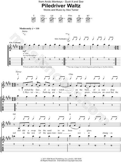 alex turner piledriver waltz lyrics arctic monkeys quot piledriver waltz quot guitar tab in e major