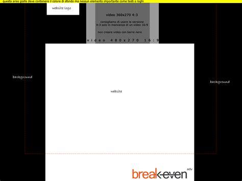 breakeven testo formati pubblicitari specifiche tecniche even s r l