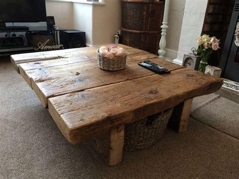 reclaimed pine coffee table rustic furniture railway