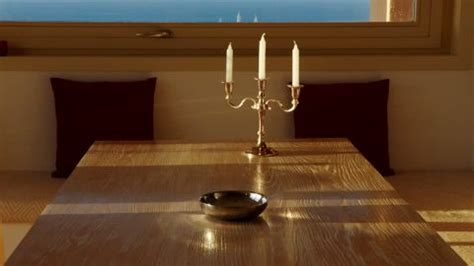 candle holder dining table dining room 2k stock