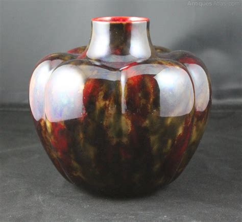 antiques atlas royal doulton flambe pumpkin vase