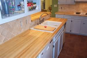 maple edge grain wood counter top traditional kitchen