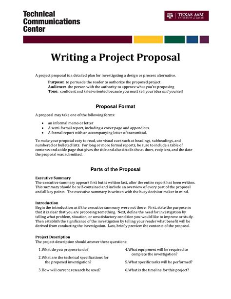 format of proposal writing informal proposal letter exle writing a project