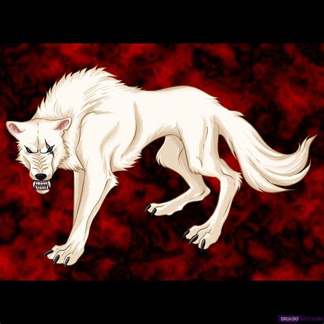 A Anime Wolf by How To Draw An Anime Wolf Step By Step Anime Animals