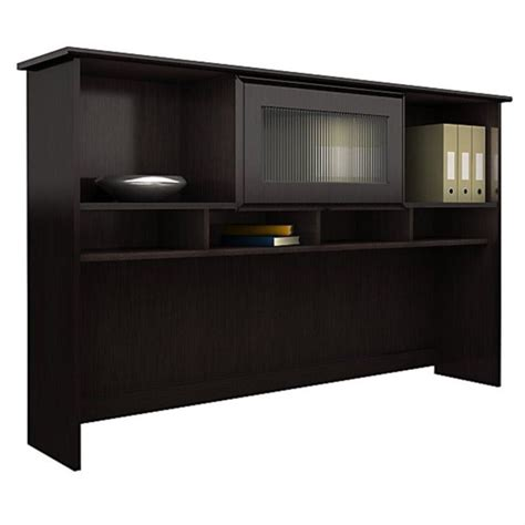Espresso Desk With Hutch Bush Furniture Cabot Corner W Hutch Espresso Oak Computer Desk
