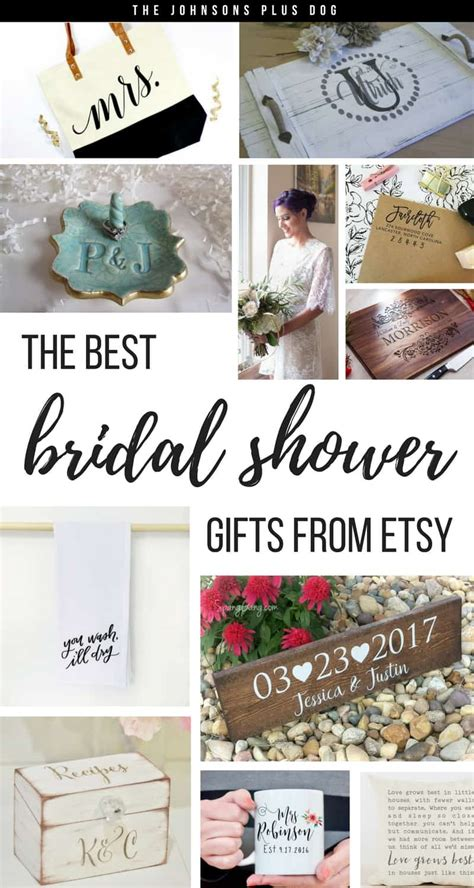 best wedding shower gifts bridal shower gifts from etsy the johnsons plus