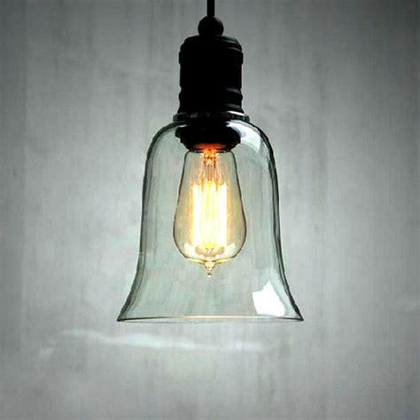 Loft Antique Clear Glass Bell Pendant Lighting | loft antique clear glass bell pendant lighting 9640
