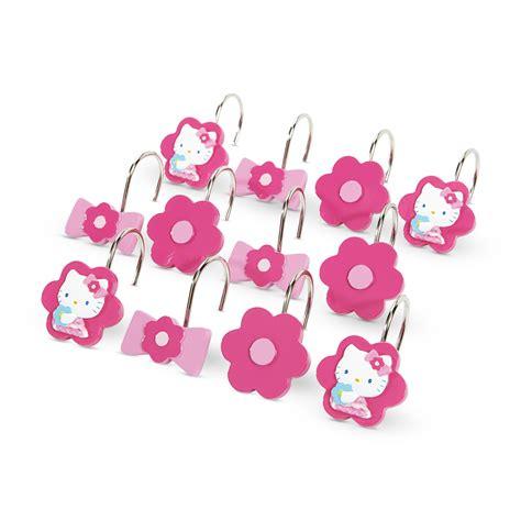 hello kitty shower curtain hooks hello kitty jubilee shower curtain set