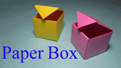 How To Make A Box Out Of Construction Paper - paper box how to make a box from paper that opens and