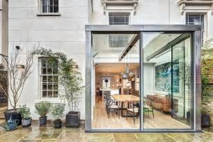 Kitchen Ideas Westbourne Grove modern steel and glass rear extension of a victorian semi