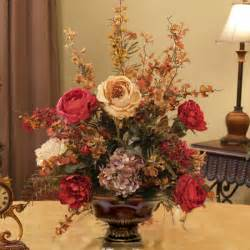 Home Floral Decor by Burgundy Amp Gold Silk Arrangement Ar217 155 Floral Home