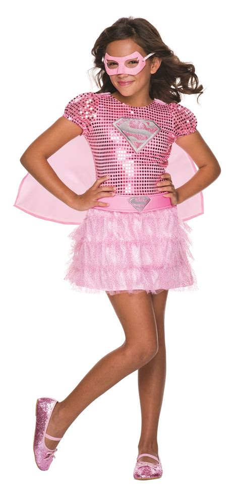 girls fancy dress halloween costumes the costume land kids pink supergirl costume 46 99 the costume land