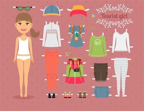 paper girls n 12 8491465731 tourist paper doll illustrations on creative market