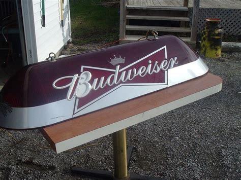 Vintage Budweiser Pool Table Light by Vintage Budweiser Pool Table Light 4 6 Quot Cave