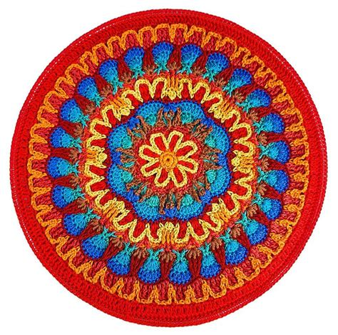 mandala pattern youtube fire and ice mandala crochet pattern by carolyn christmas